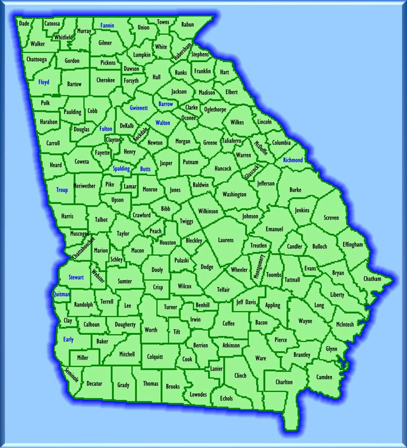 Forsyth County Georgia Property Tax Map